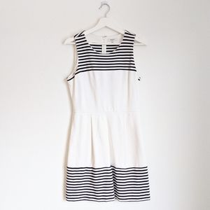 MADEWELL White Stripe Verse Fit & Flare Dress M